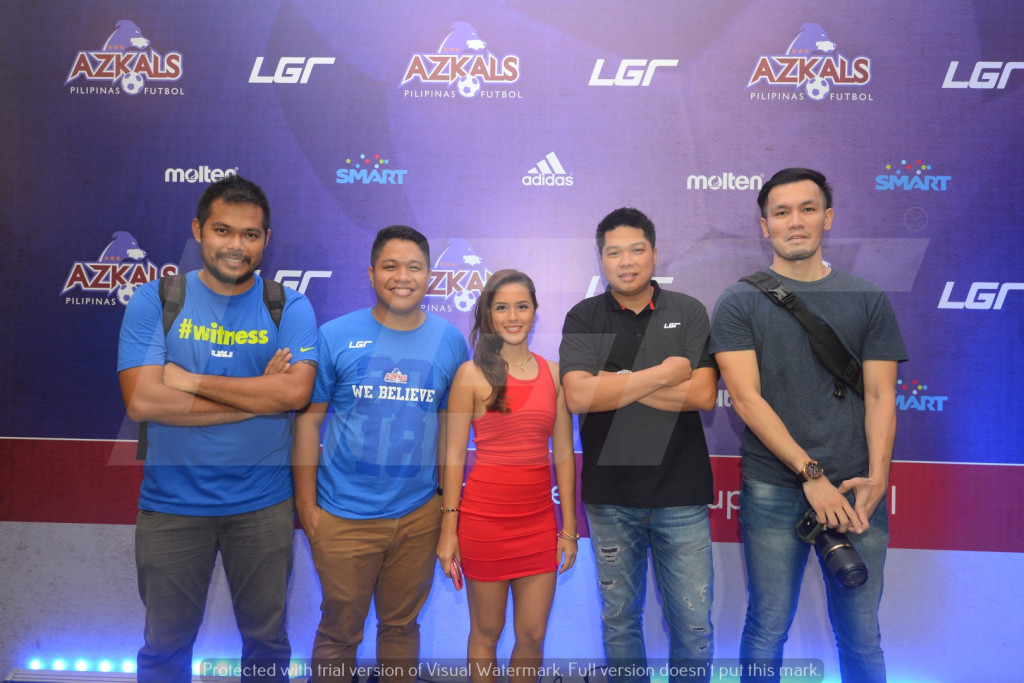 Azkals 2015 Kit Launch | LGR | Rhayan Cruz with Sparta Owner Amanda Fernandez